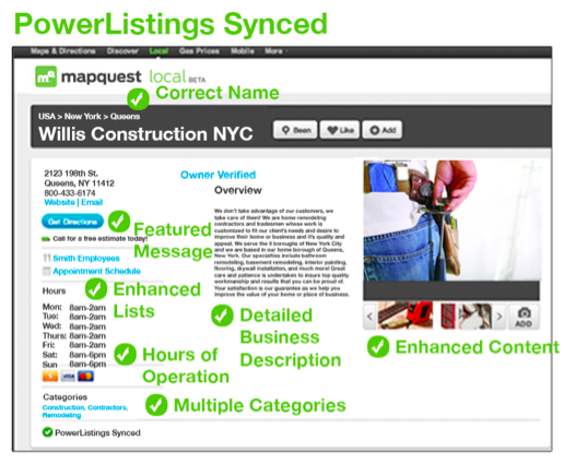 Local Business Listings after PowerListings