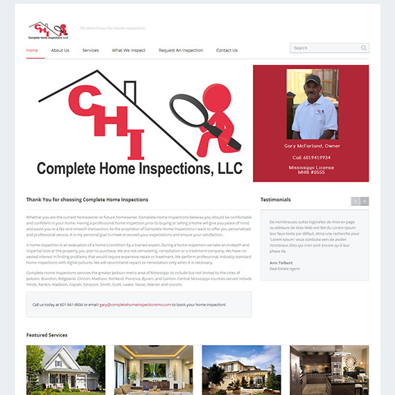 Genial Home Inspector Web Design